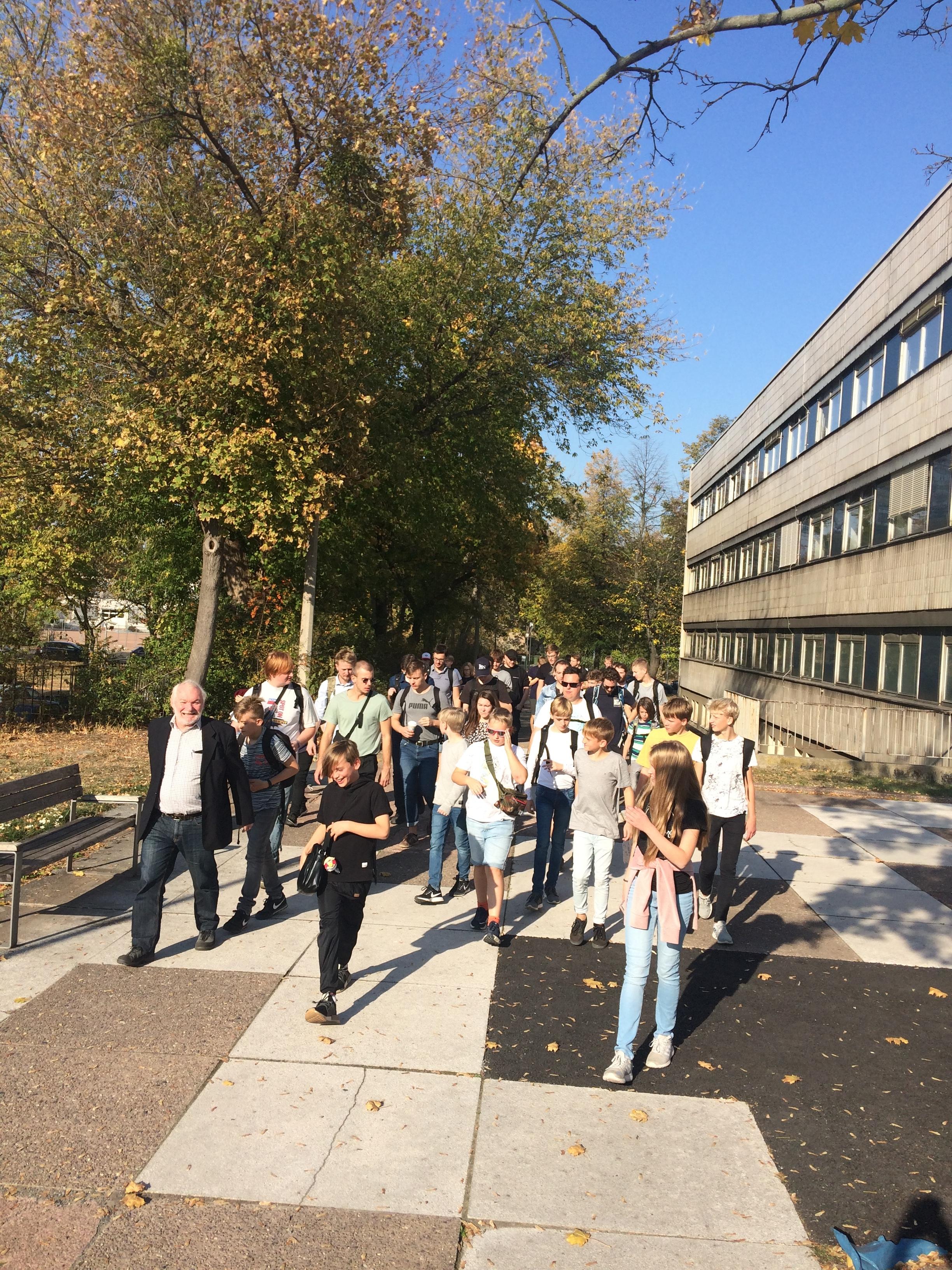 skøn gåtur i det tyske efterår