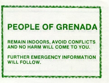 Examples of the US Army Psyops during the invasion of Grenada