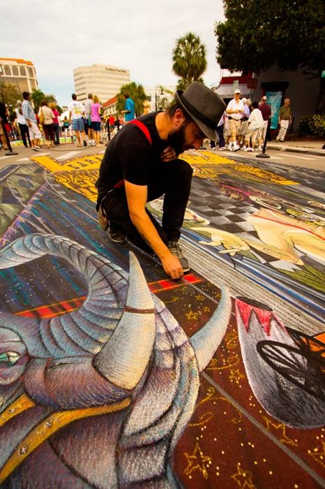 anamorphic chalk art