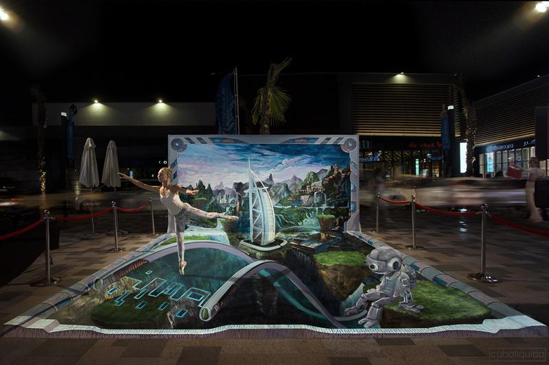 3d Street Painting Festival - Dubai Canvas 2016