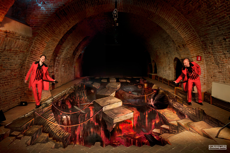 Anamorphic Art Installation - Castello Estense