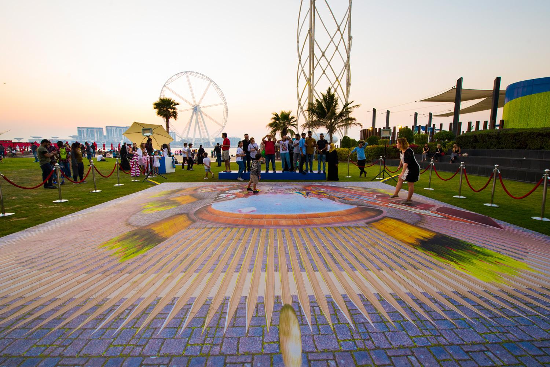 BACK VIEW - Warner Bros - Cartoon Junction - JBR Dubai Promotion - World Abu Dhabi Theme Park - United Arab Emirates