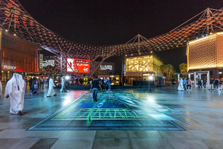 BACK VIEW - Warner Bros - Gotham - City Walk Dubai Promotion - World Abu Dhabi Theme Park - United Arab Emirates