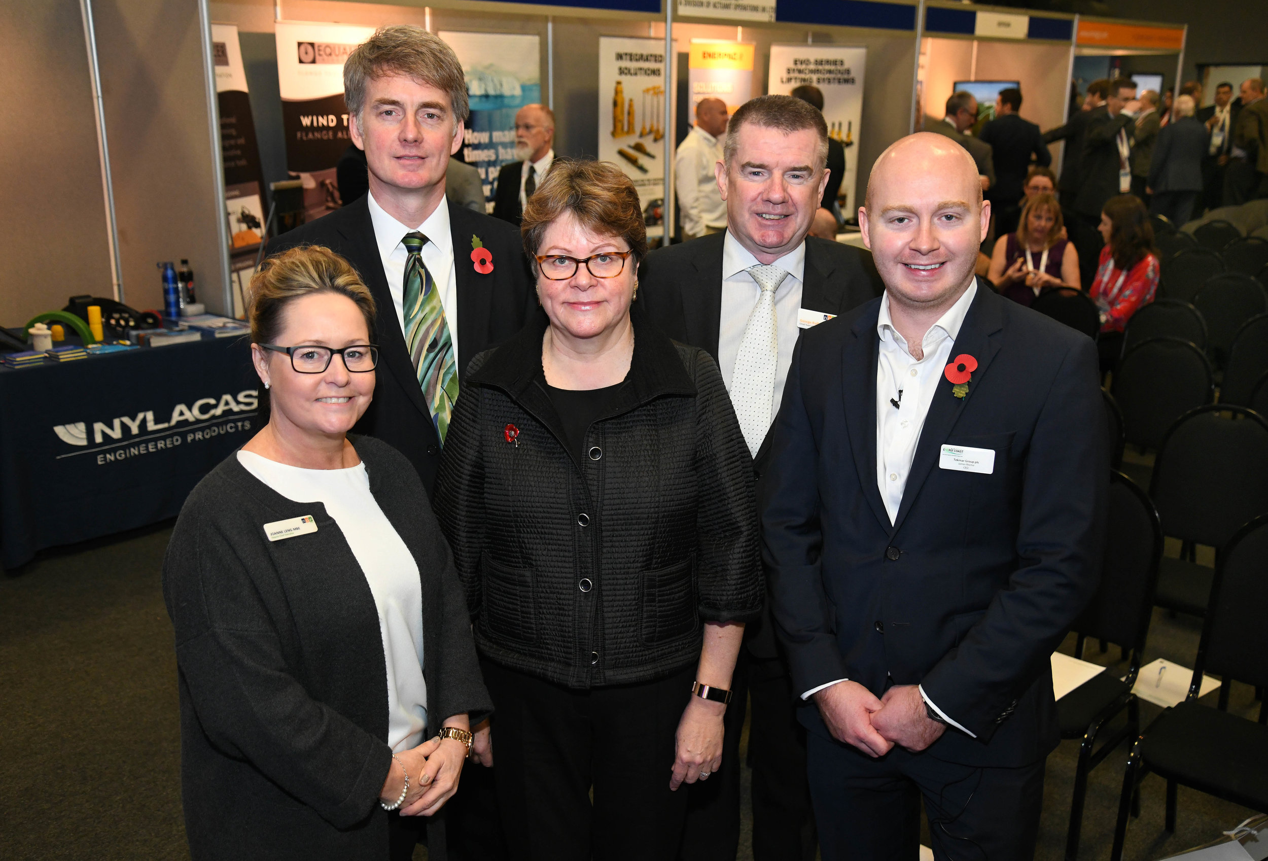 Photo L-R: Joanne Leng (Deputy Chief Executive, NOF Energy), David Few (Sofia Project Director, innogy), Baroness Brown, George Rafferty (CEO, NOF Energy), James Ritchie (Chairman Energi Coast & CEO Tekmar Group plc)