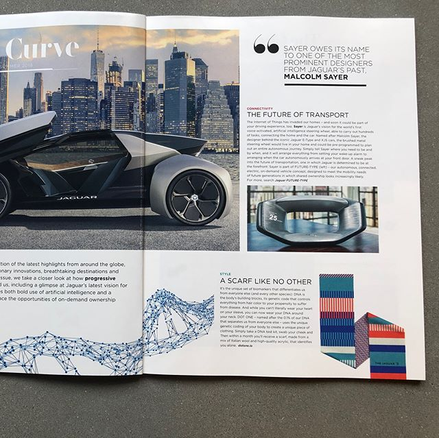 Thank you @jaguar for ft. our #DNA scarves in your mag! Just got to sell 1 or 2 more & then we'll totally be able to buy one of your 🚗!