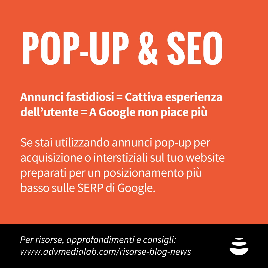 pop-up e SEO