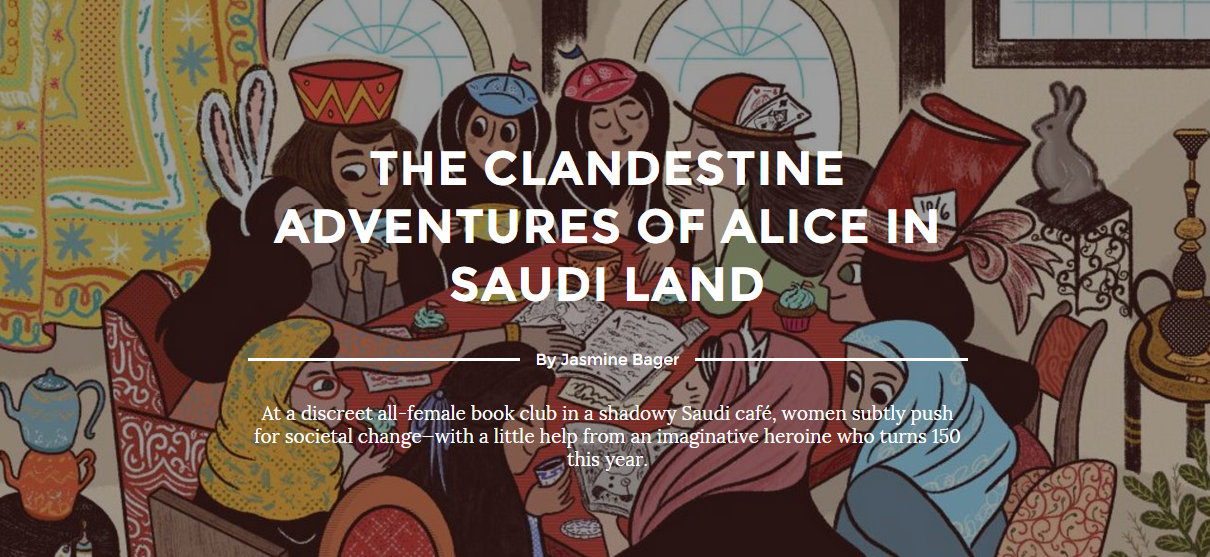 The kind Jasmine Bager joined us in discussing  Alice in Wonderland , and wrote an article about her experience.