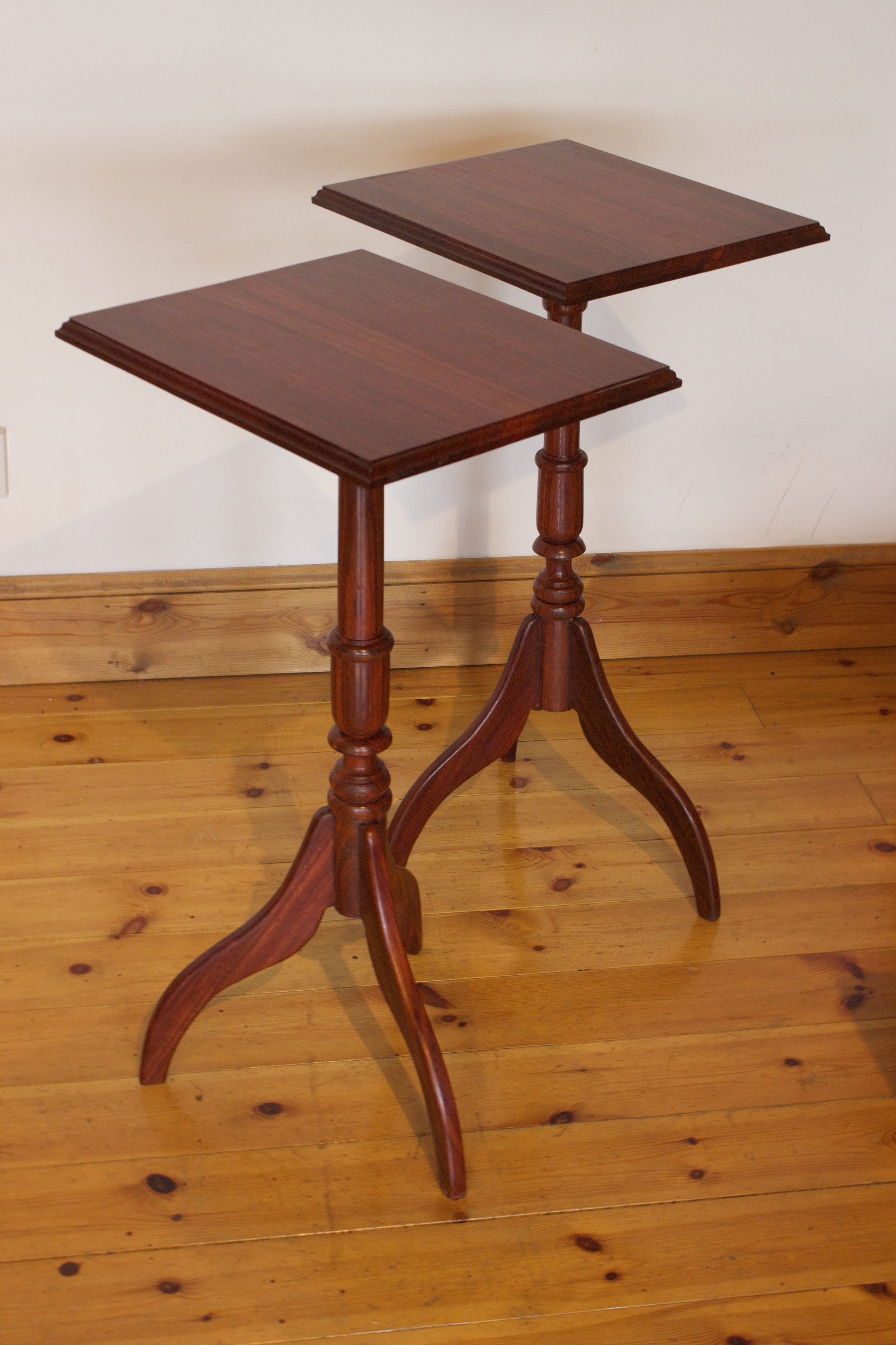 Mahognay side tables