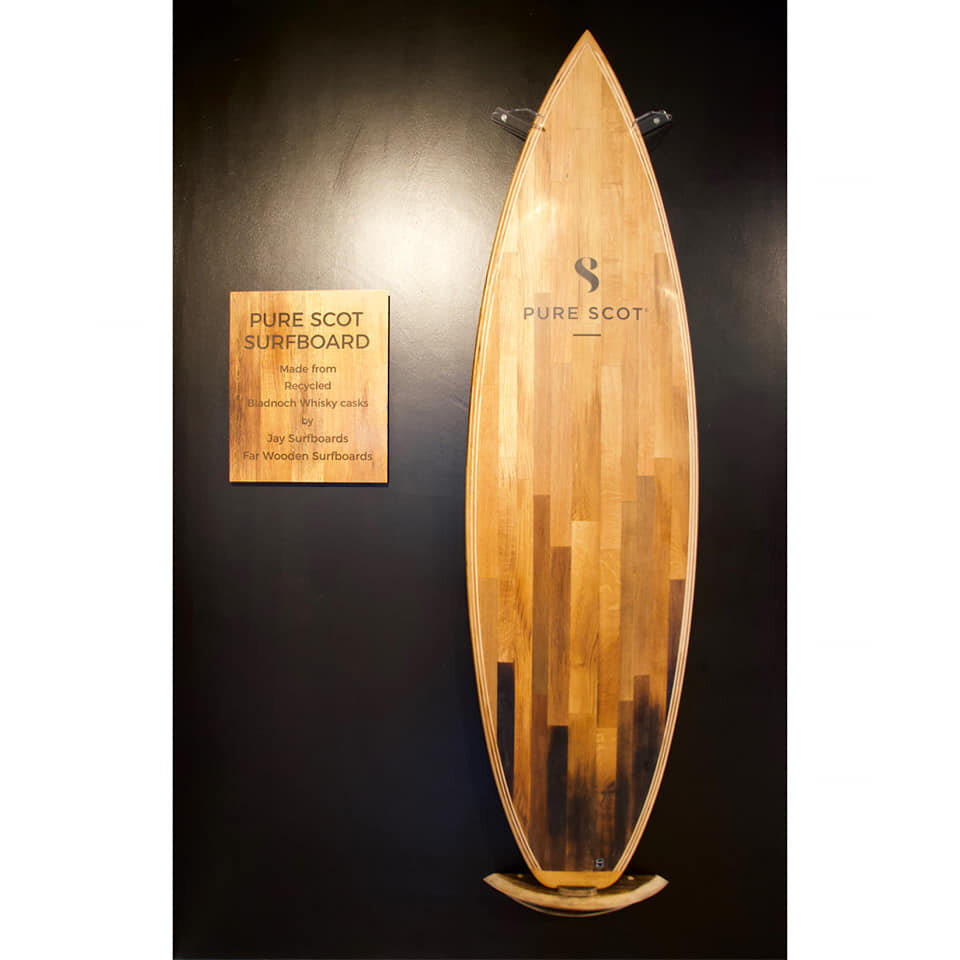 Whisky surfboard