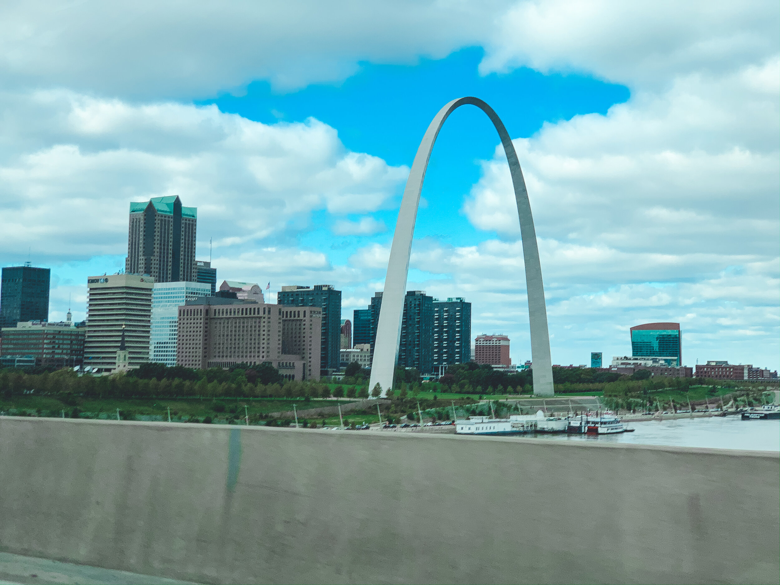 Quick stop in St. Louis for some lunch!