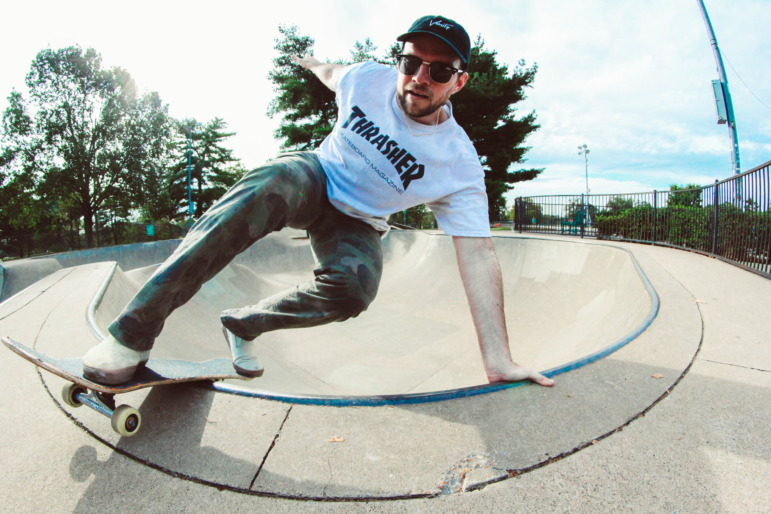 It didn't take long to find the local skatepark!  Dylan // Layback Front Rock