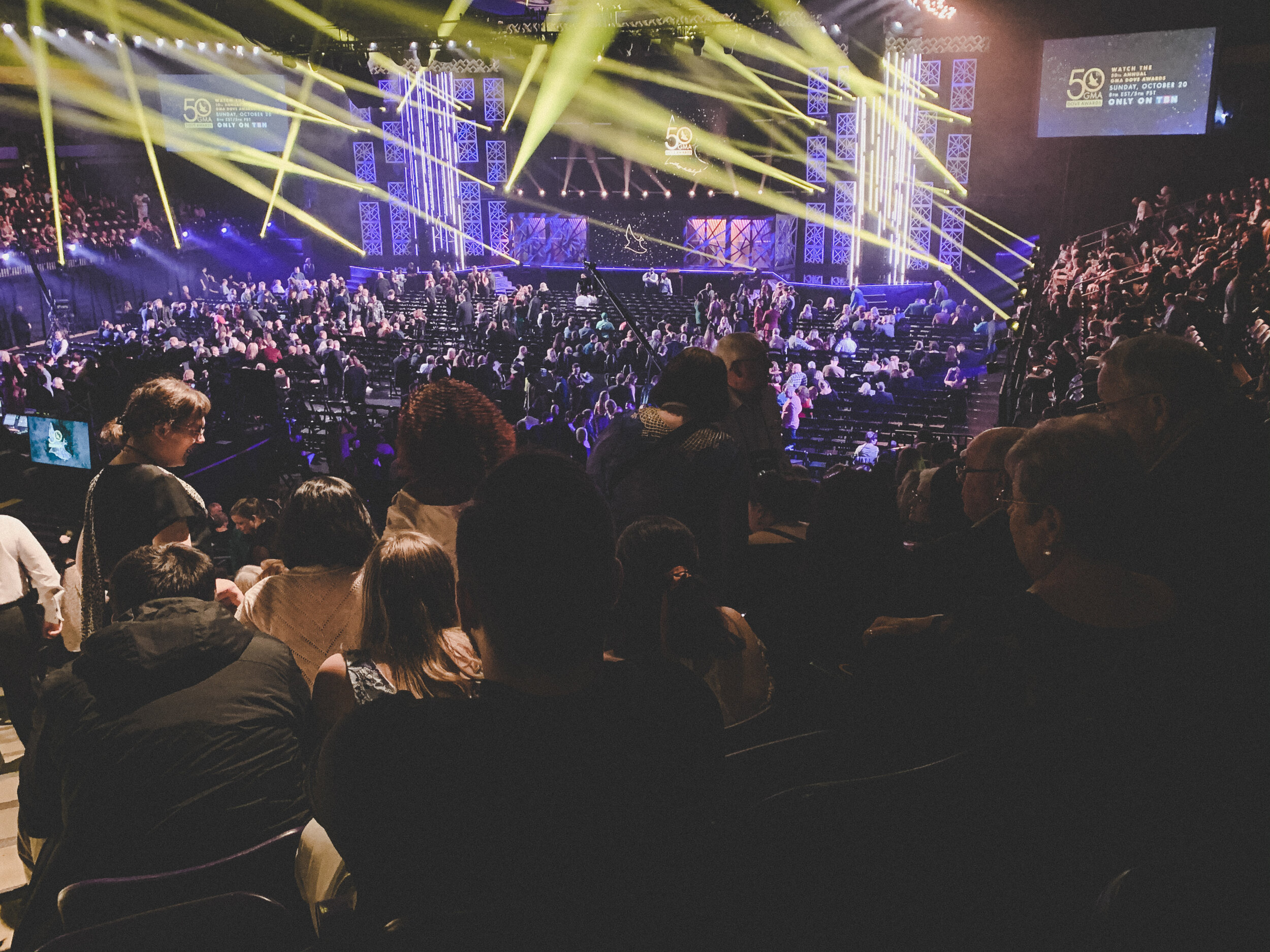 We made it to the 50th Annual Dove Awards!