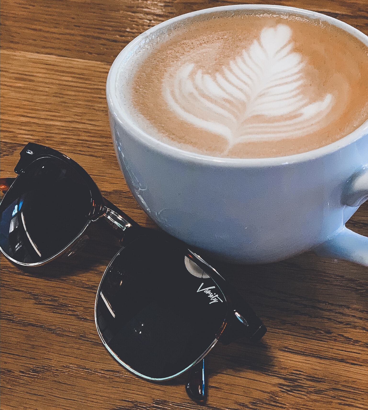 An early morning and quick turn around home calls for coffee and sunnies.