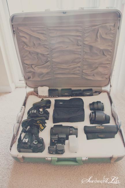 DIY Vintage Camera Case from Old Suitcase Denver Vintage Wedding Photographer 1950s Durabilt Fiberglas
