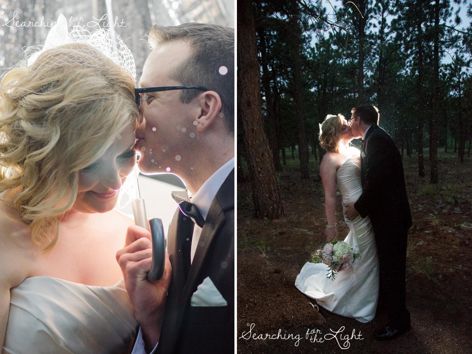 photos in the rain Boettcher Mansion wedding photos from a Denver wedding photographer