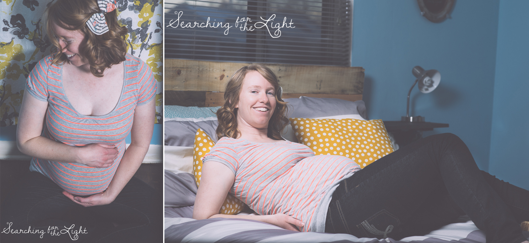Denver maternity photographer takes self portraits of her growing belly searchingforthelight.com