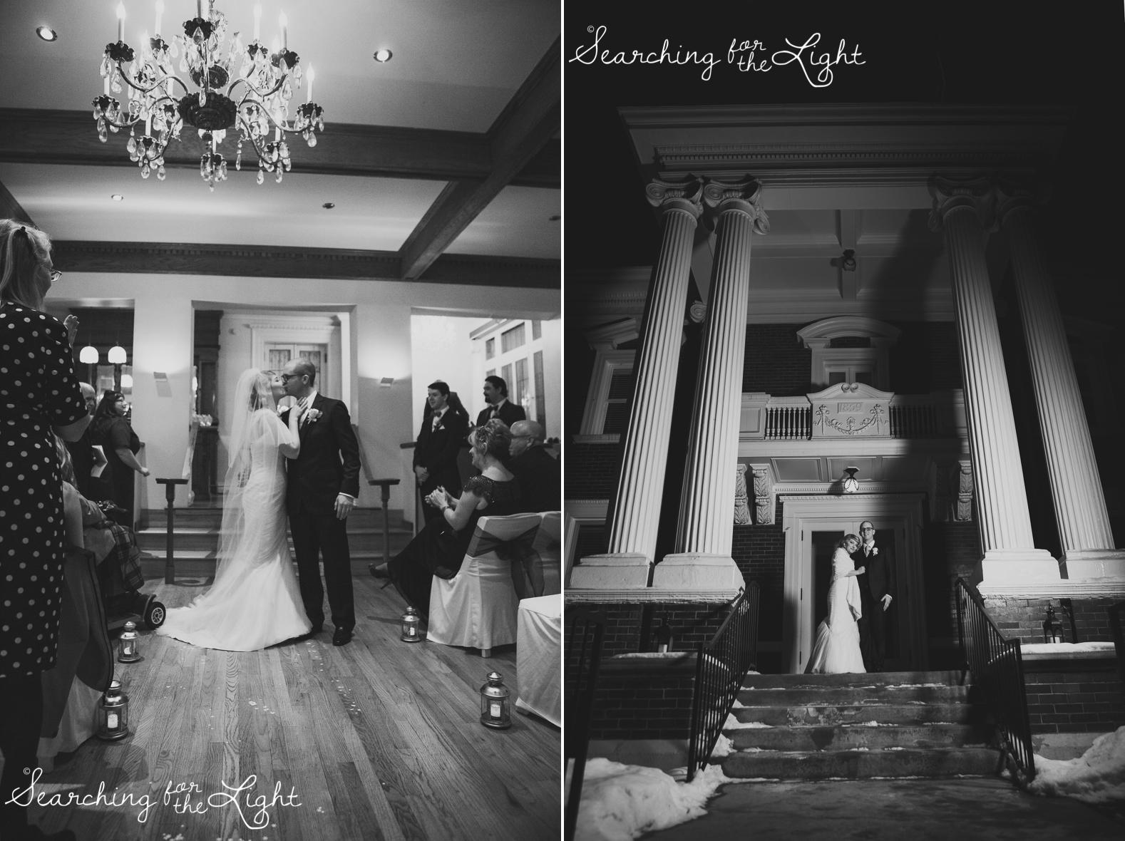 Parkside mansion wedding photo by denver wedding photographer, romantic evening wedding photo, city wedding