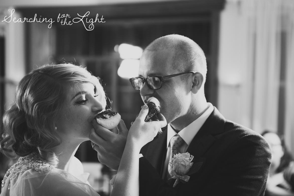 reception Parkside mansion wedding photo by denver wedding photographer, romantic evening wedding photo, city wedding