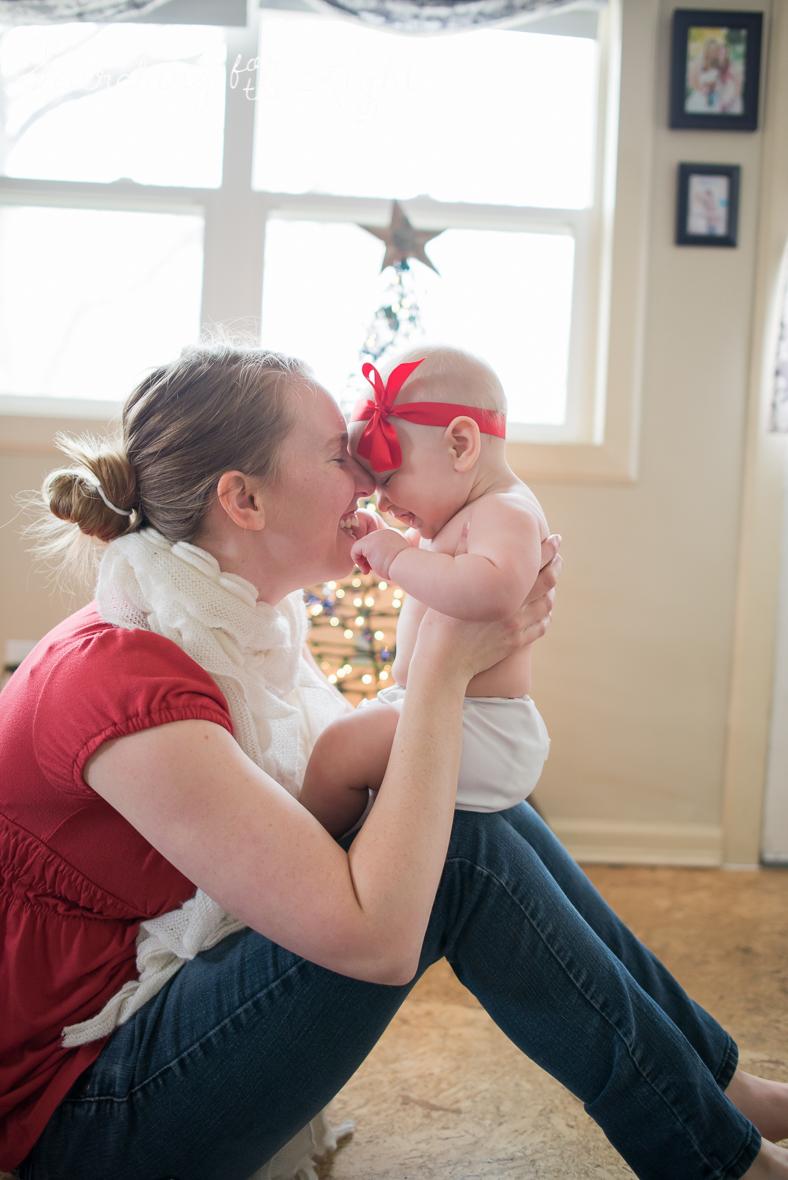 denver baby photographer, December baby photos, christmas baby photos, baby and mom