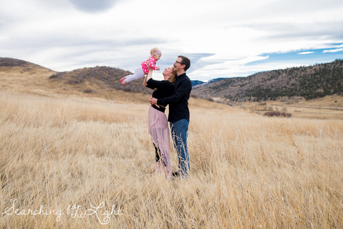 colorado baby photographer, denver baby photographer, family of three, 10 month old baby photos