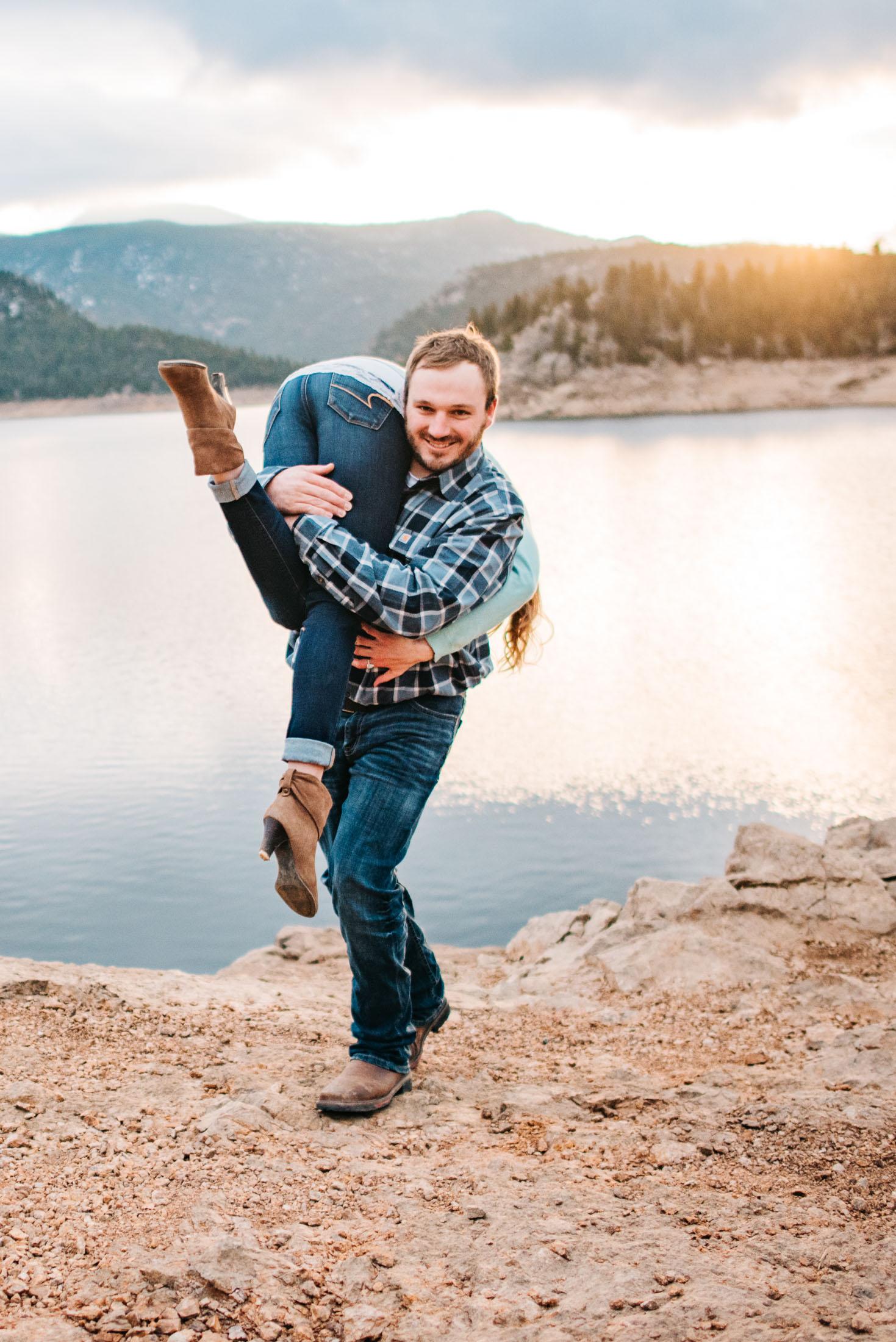 Anniversary Adventure Engagement Couple Photography | Mountain Denver Colorado