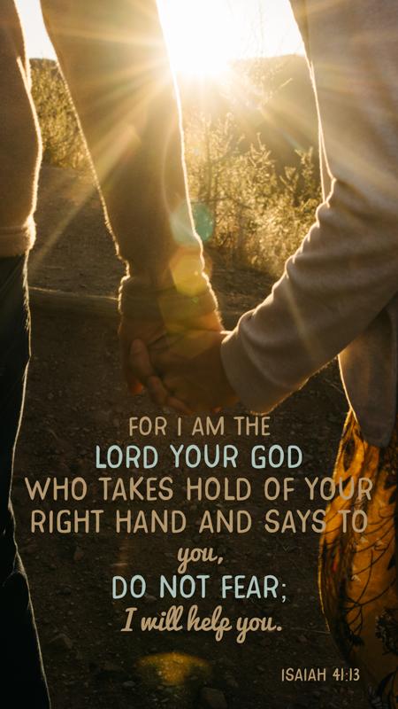 Scripture Art | Scripture Photos | Do not fear God holds you| Isaiah 41:13