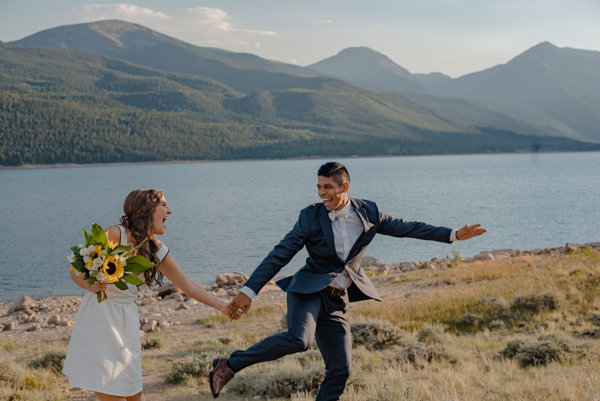 Adventure Mountain Swimming Elopement of Chronically Ill Wedding {Wheel Chair Friendly Adventure Elopement | Swimming on Your Wedding Day | Mountain Elopement Twin Lakes Colorado}