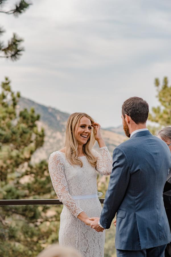 Boulder Colorado Mountain Intimate Wedding Elopement | Flagstaff House Wedding {Jessica & Adam} | Capital Hill Denver Colorado Mountain Elopement Photographer