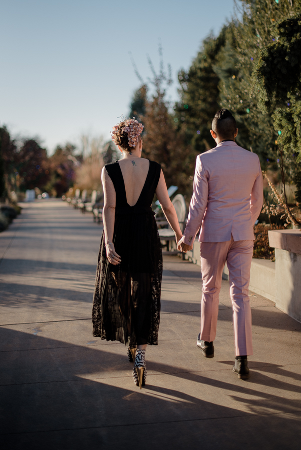 Alternative Denver Botanic Gardens Elopement {Gia & Dustin | Denver, Colorado Elopement Wedding Photographer} | Cheeseman Park Intimate Wedding Photos