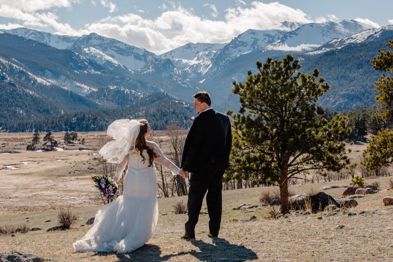 Rocky Mountain National Park Intimate Wedding {Brea & Kyle   Black Canyon Inn Wedding}   National Park Elopement Photography