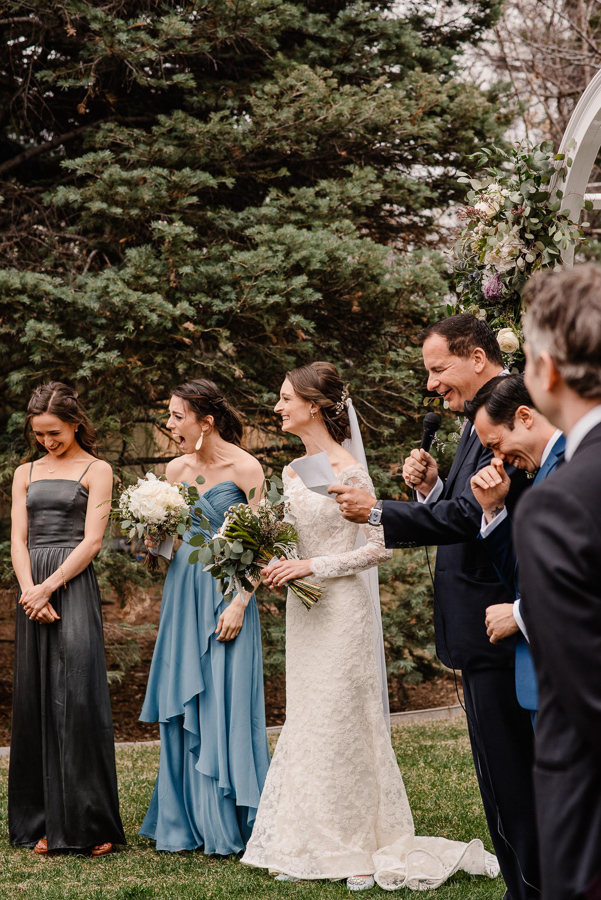 Denver Colroado Intimate Backyard Wedding | {Sara & Kevin | Married } Denver Colorado Intimate Wedding Photographers