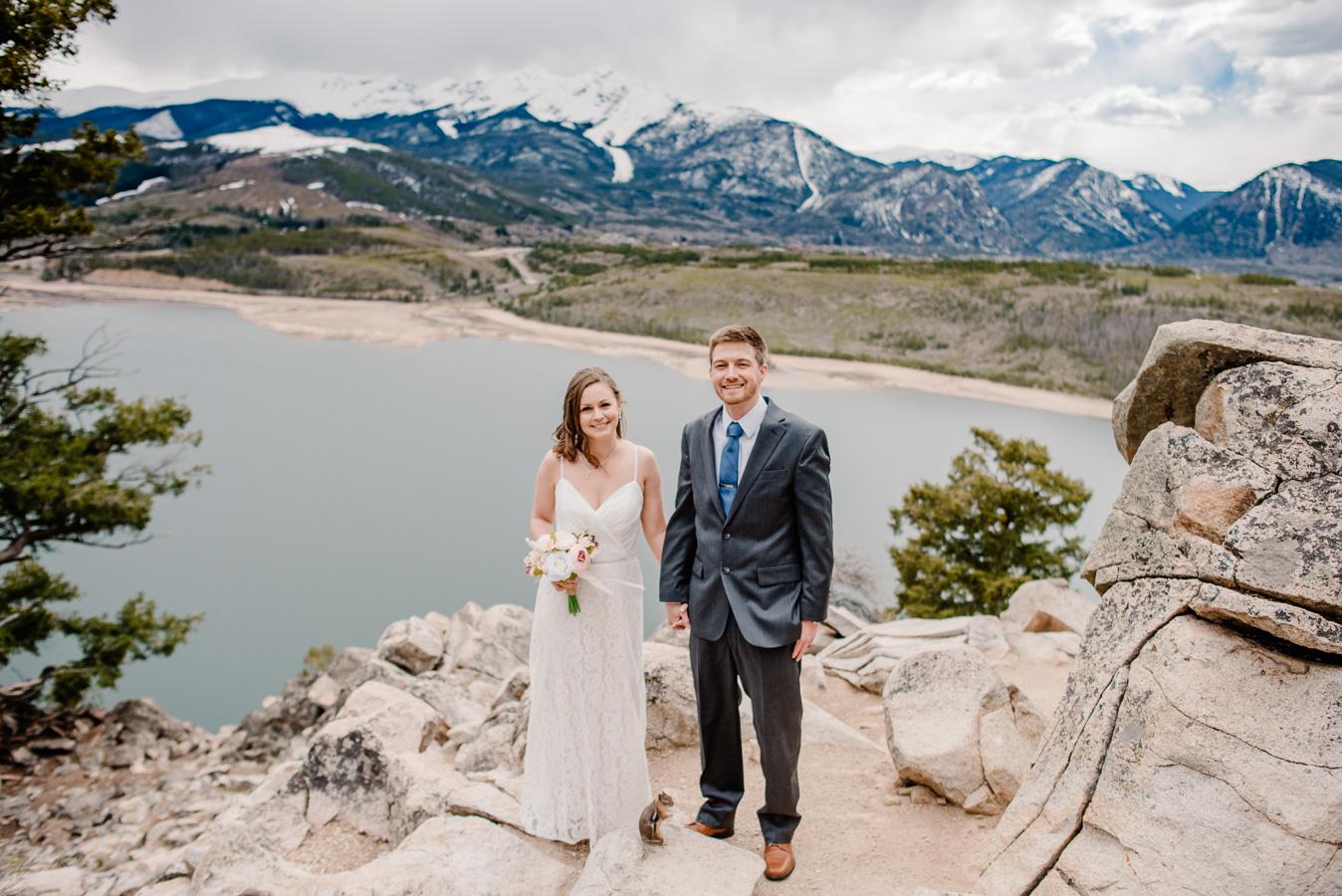 Sapphire Point Breckenridge, Colorado Intimate Elopement Wedding { Aubrey & Gabe | Colorado Mountain Intimate Elopement Photographers}