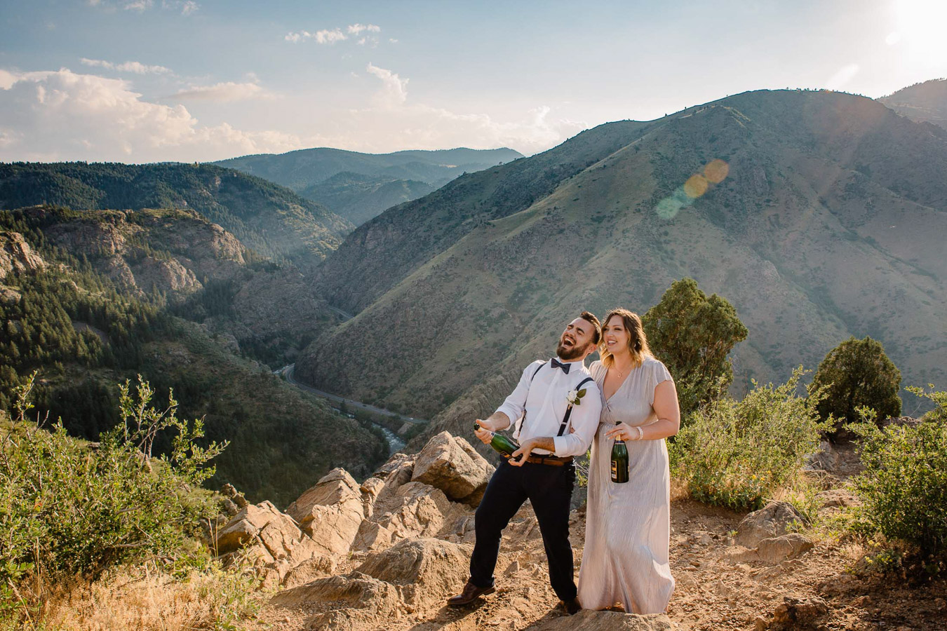 Colorado Mountain Elopement Photographers {Katy & Christian | Elopement | By Brittany} | Clear Creek Golden, Colorado Elopement