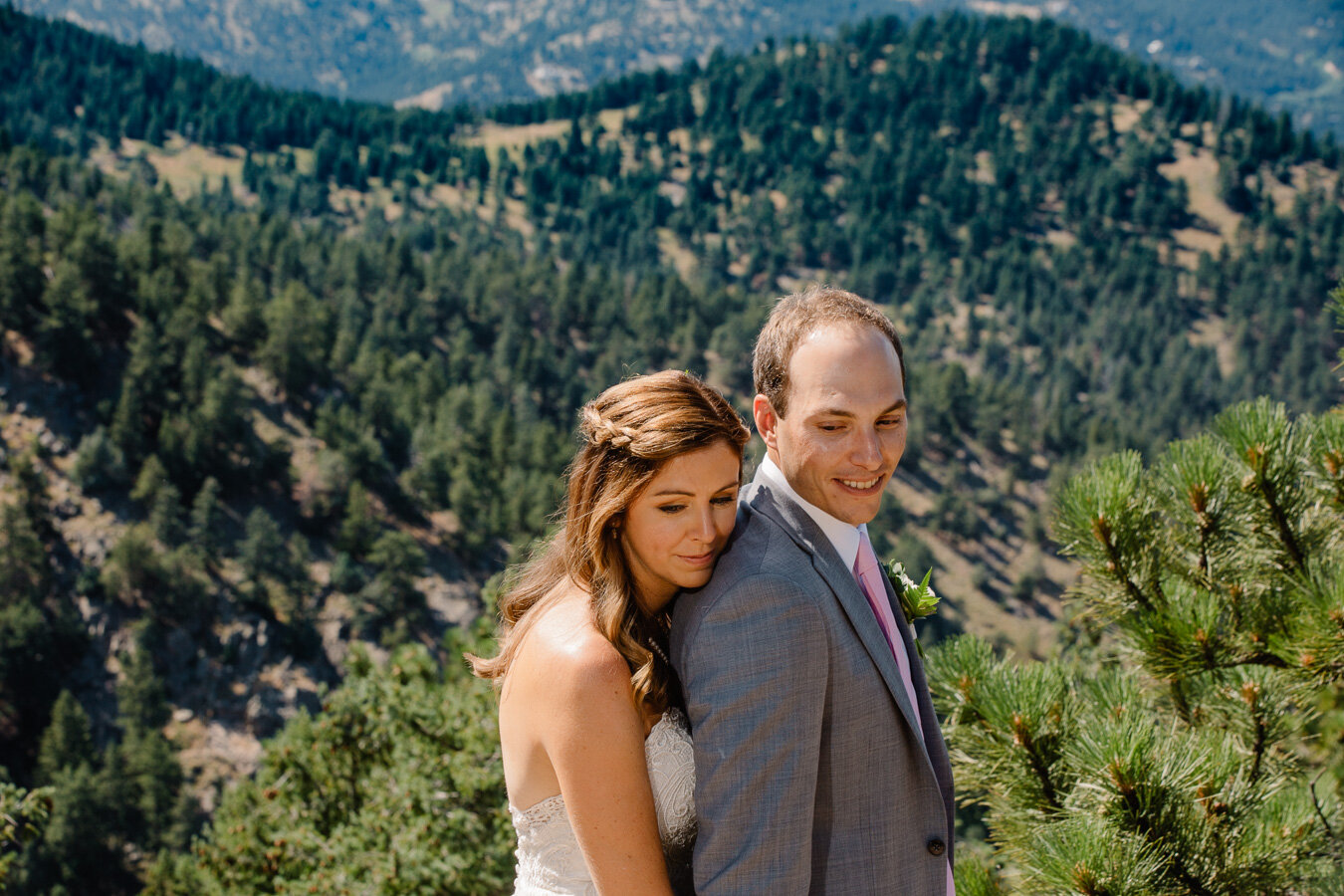 Rocky Mountain Intimate Wedding Ceremony at The Flagstaff House by Brittany | {Julia & Mike | Intimate Boulder, Colorado Wedding}