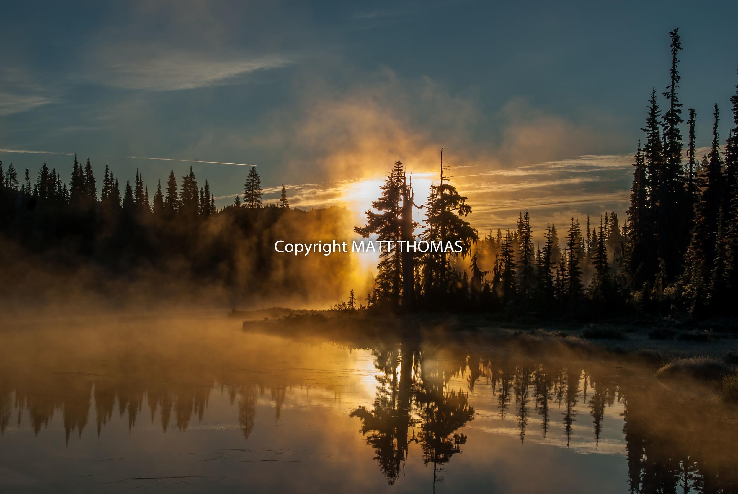 Sunrise, Reflection Lake - Mt. Rainier N.P.
