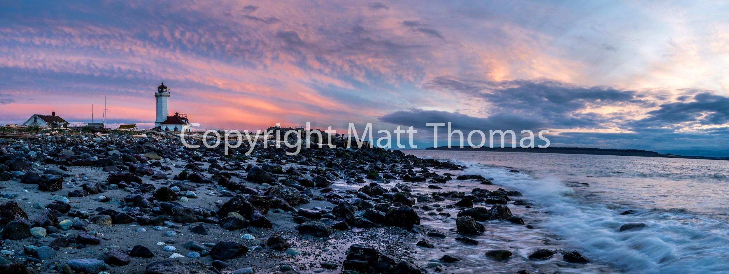 Point Wilson Lighthouse Panorama