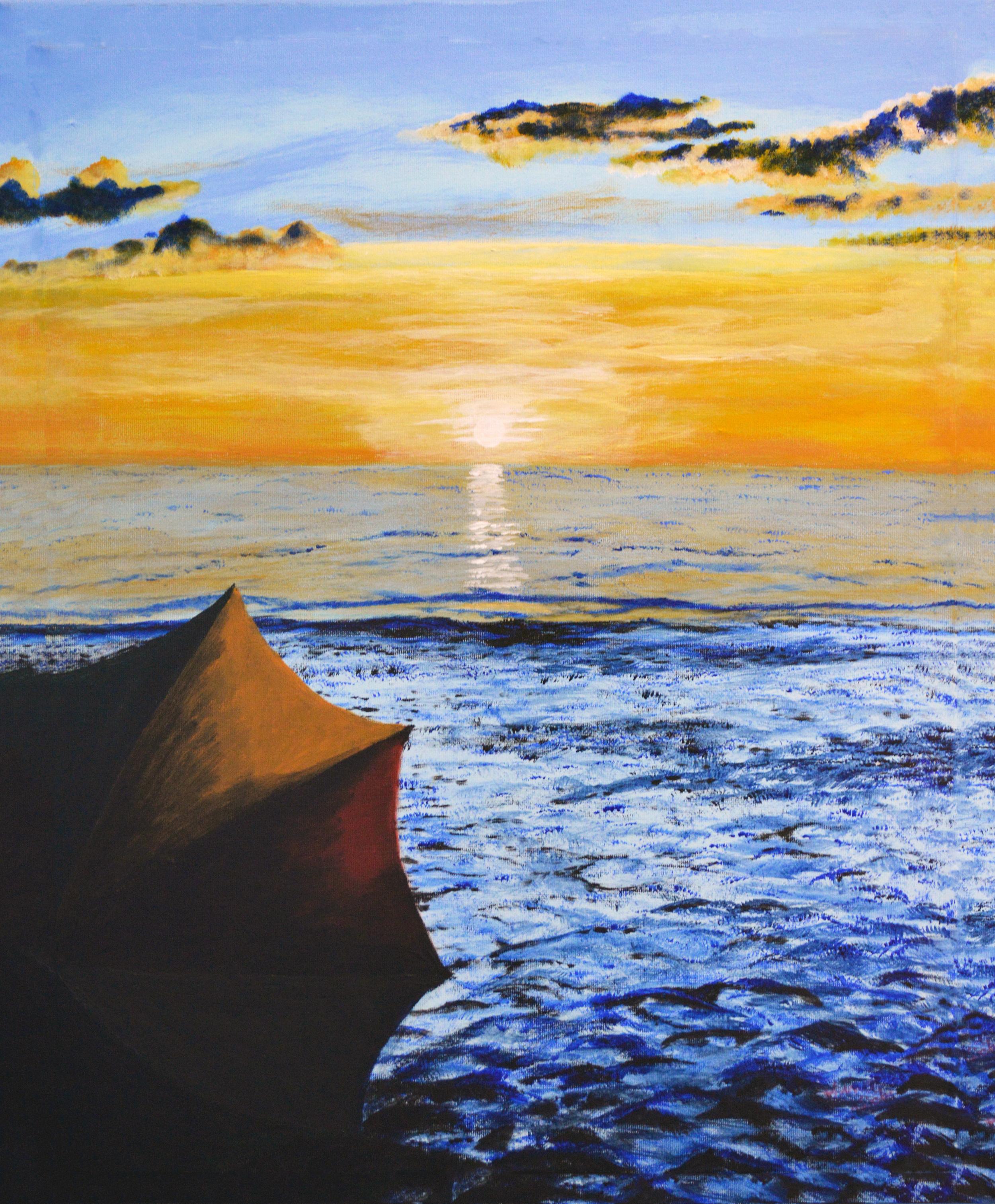 Beach Umbrella Sunset