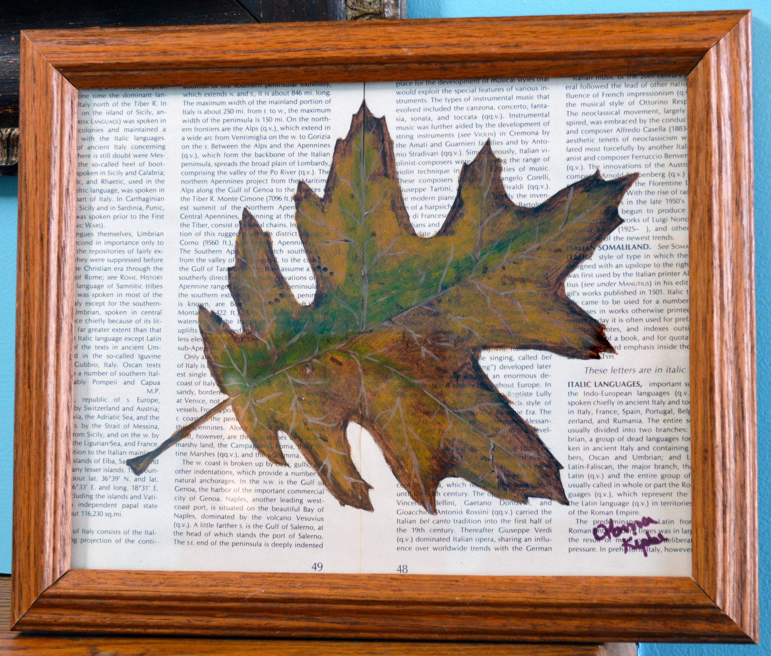 Oak Leaf on Print