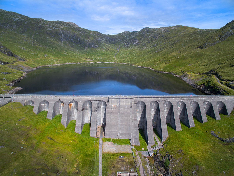 The ScottishPower Cruachan Hydroelectric Power Station on Loch Awe, near Dalmally, Scotland.