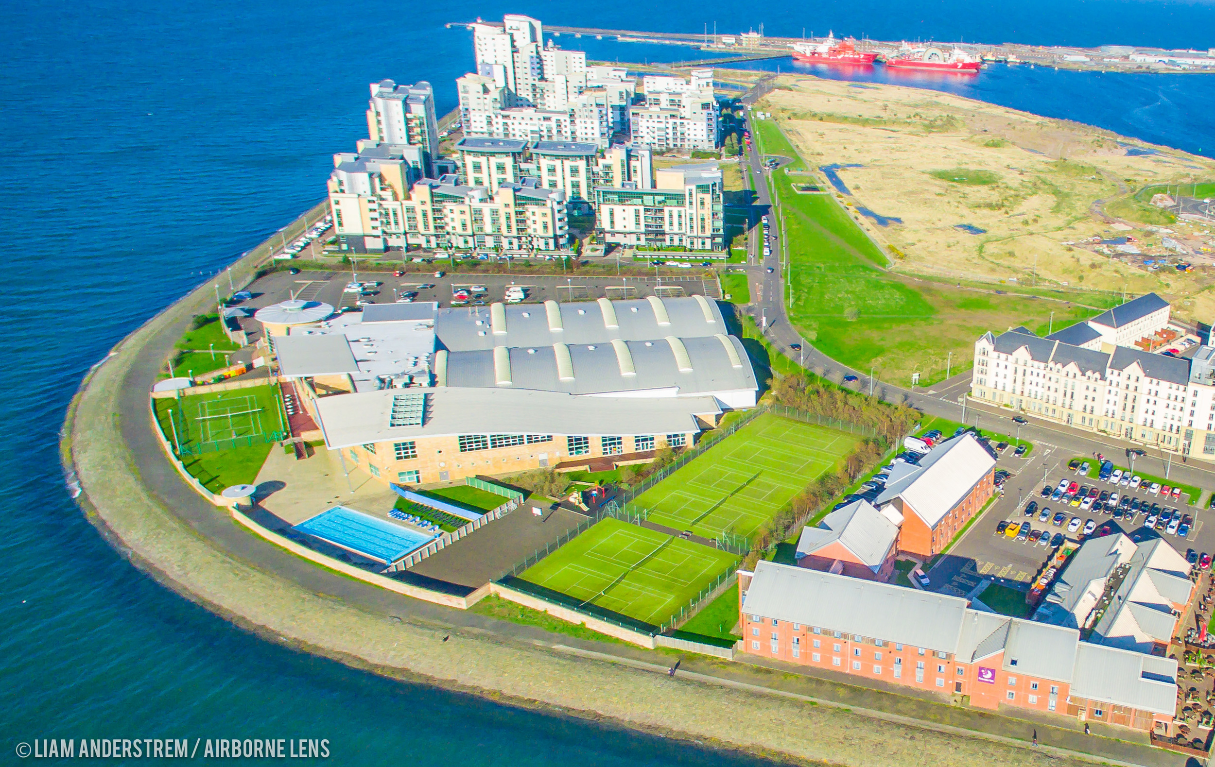 The David Lloyd Complex - images courtesy of  Drone Stock Scotland