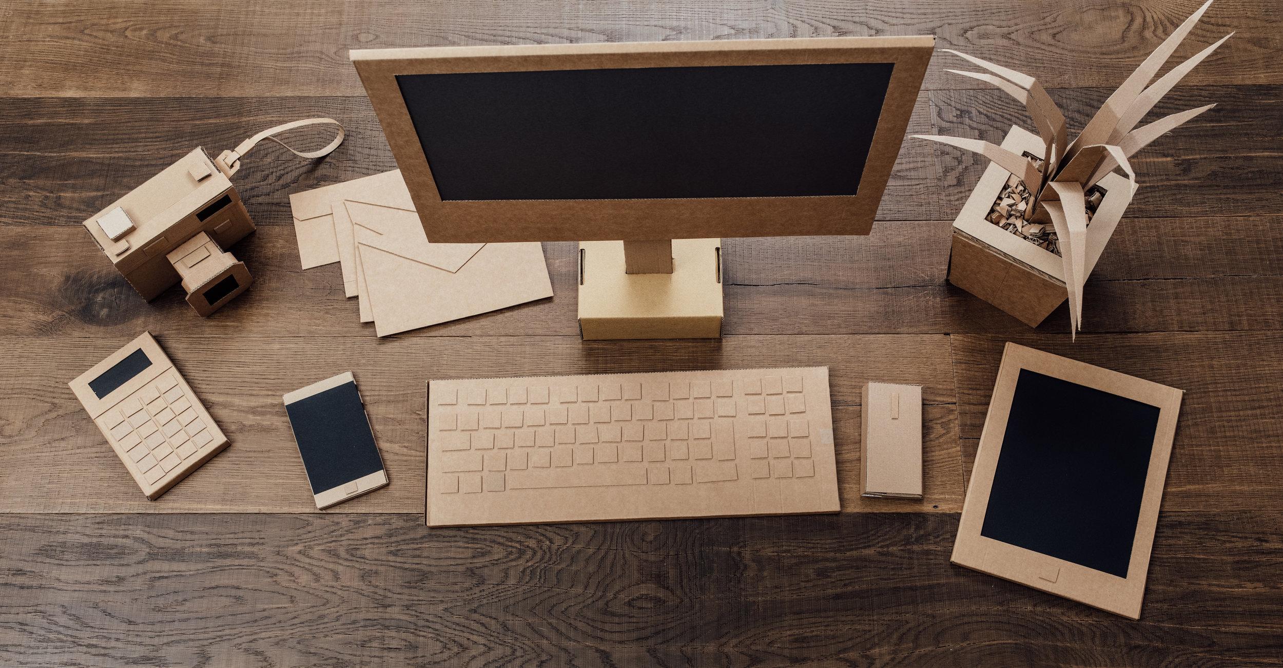 Creative eco friendly cardboard office