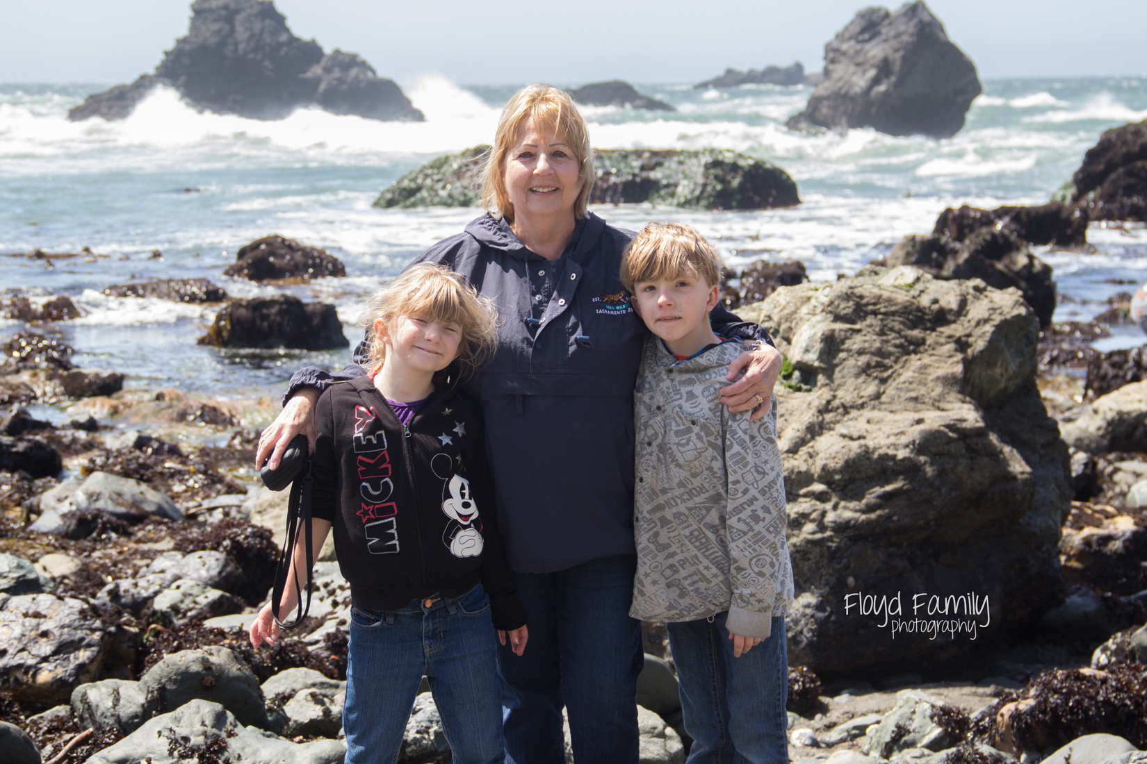Tidal pools with the kids- beach fun   Placerville-Children-Photographer