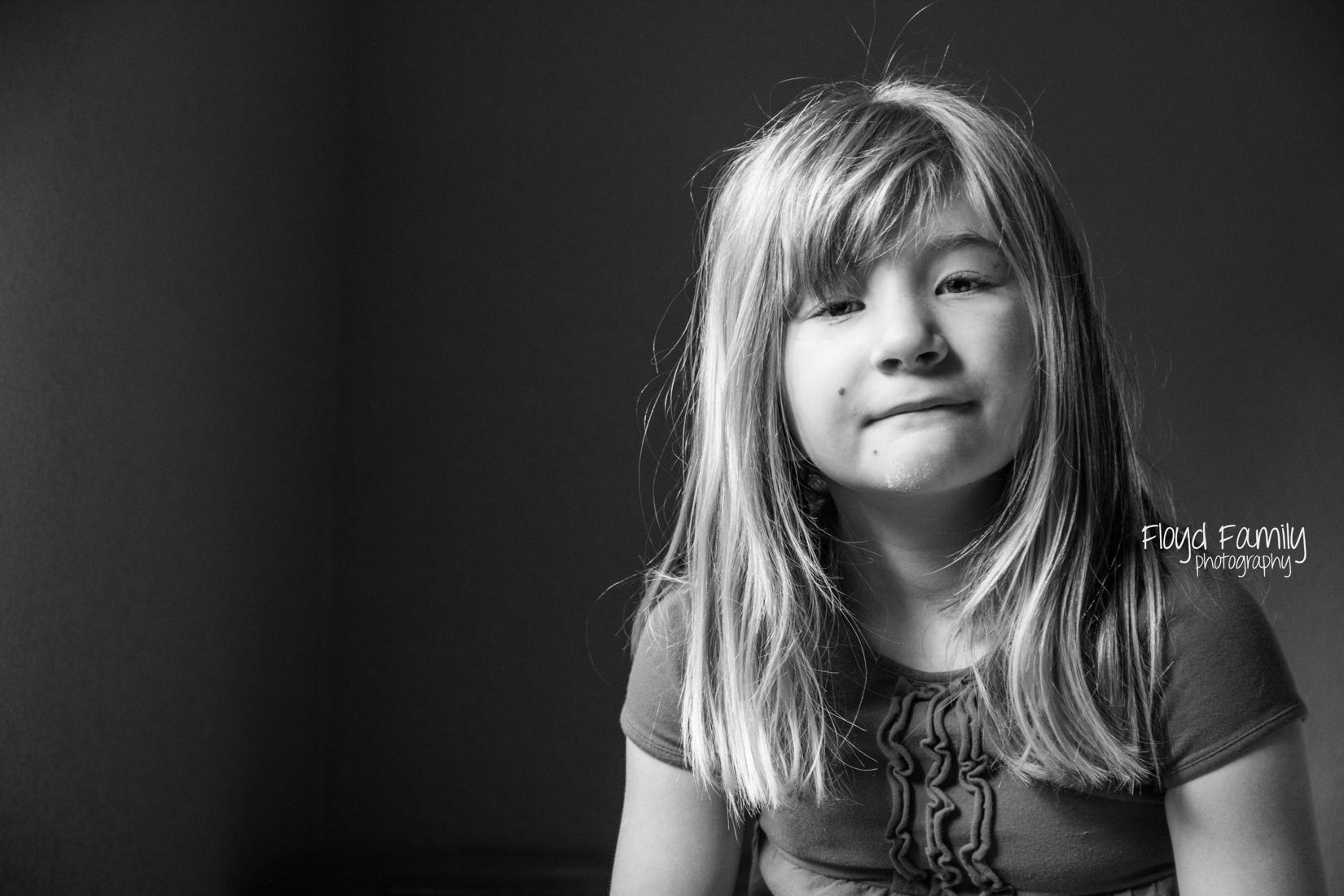 girl in nice widow light   Placerville-Children-Photographer