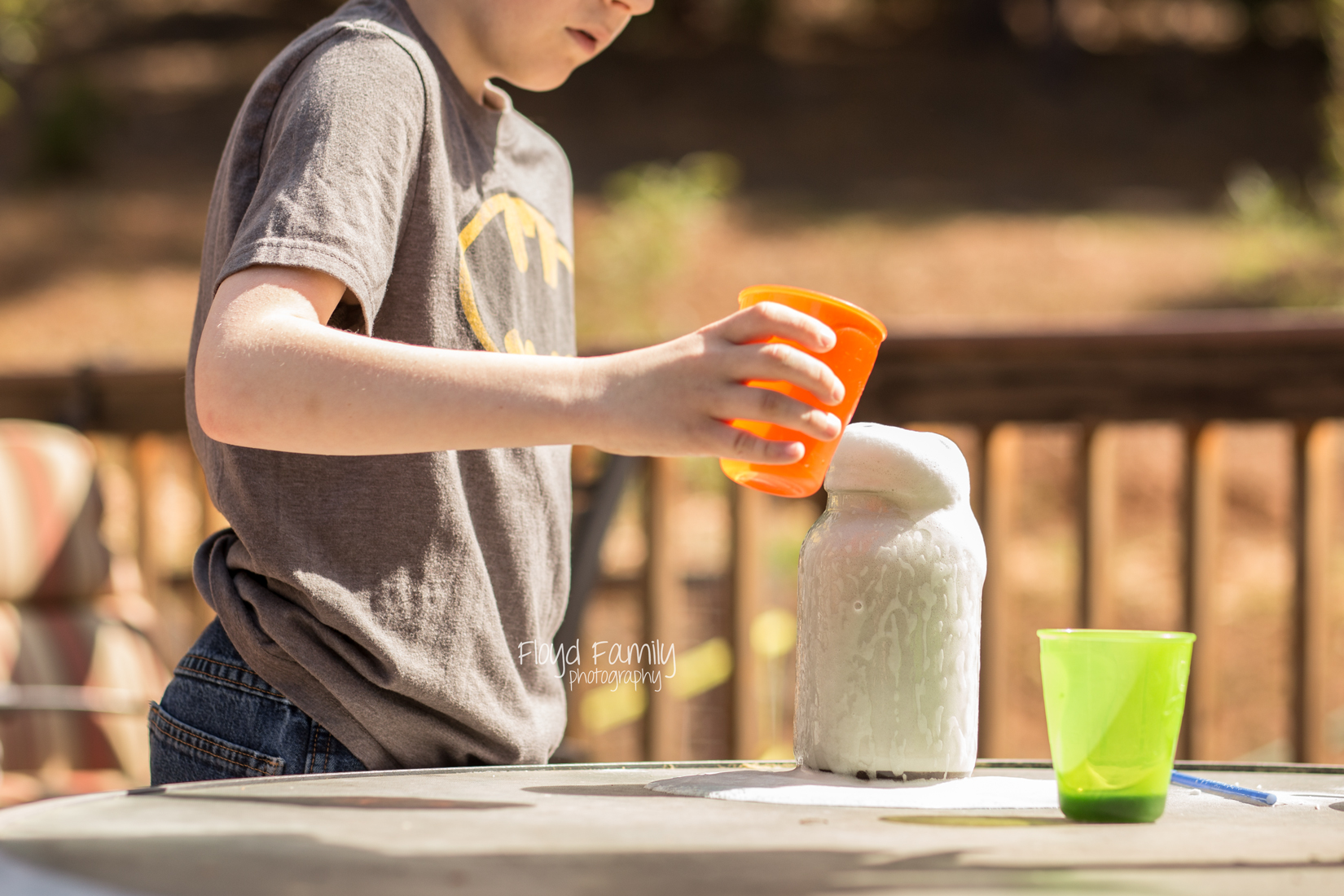 kids with science projects | Placerville-Children-Photographer