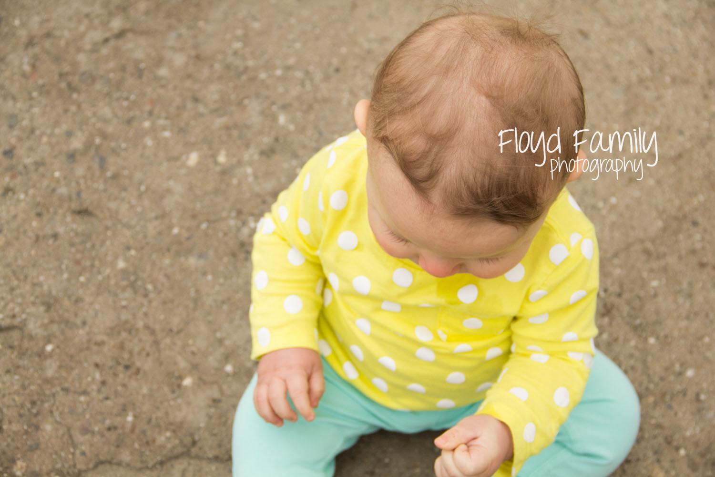 little girl sitting on ground | Placerville-Children-Photos