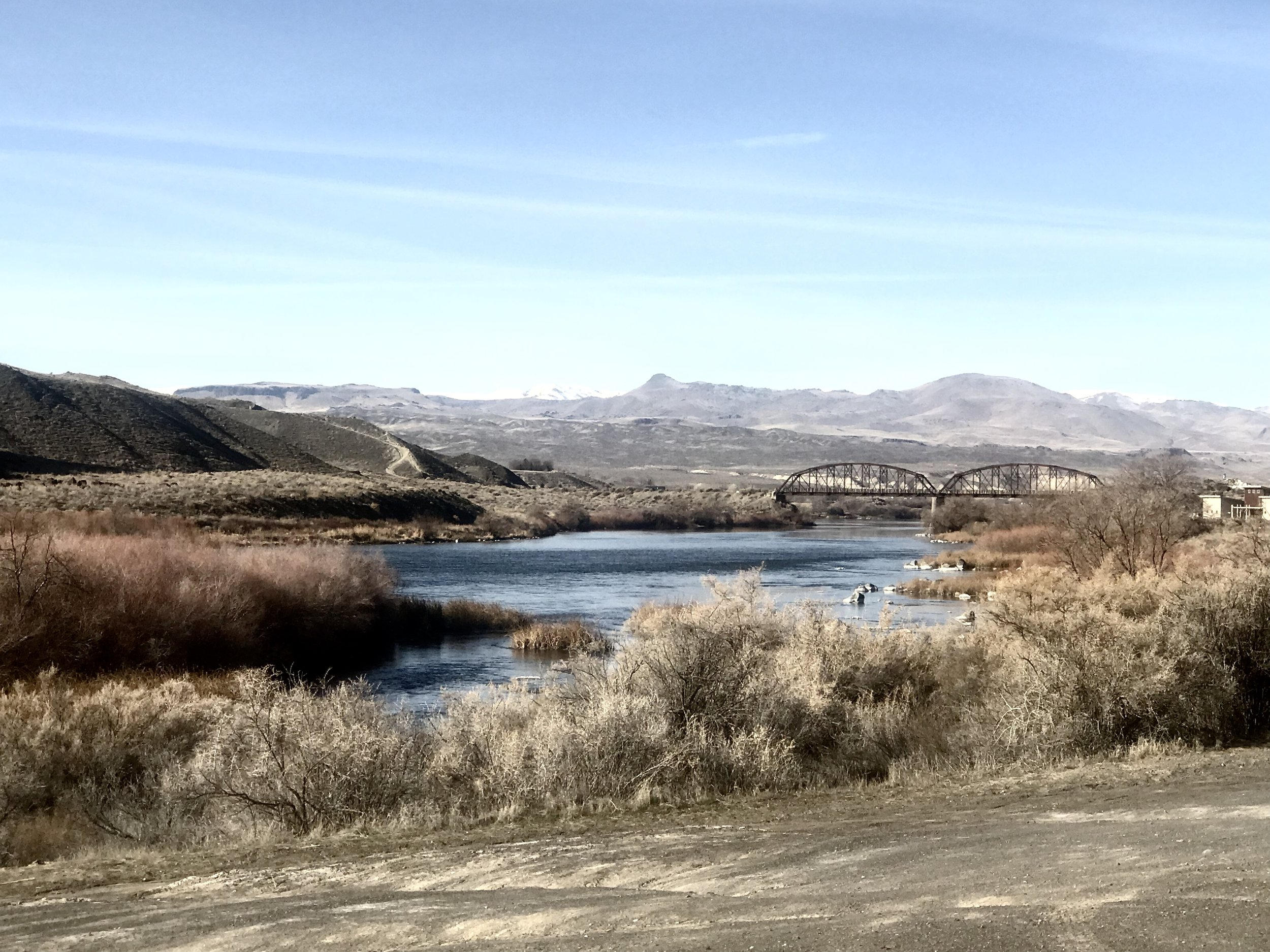 Picture of the foothills in Boise by Snake river