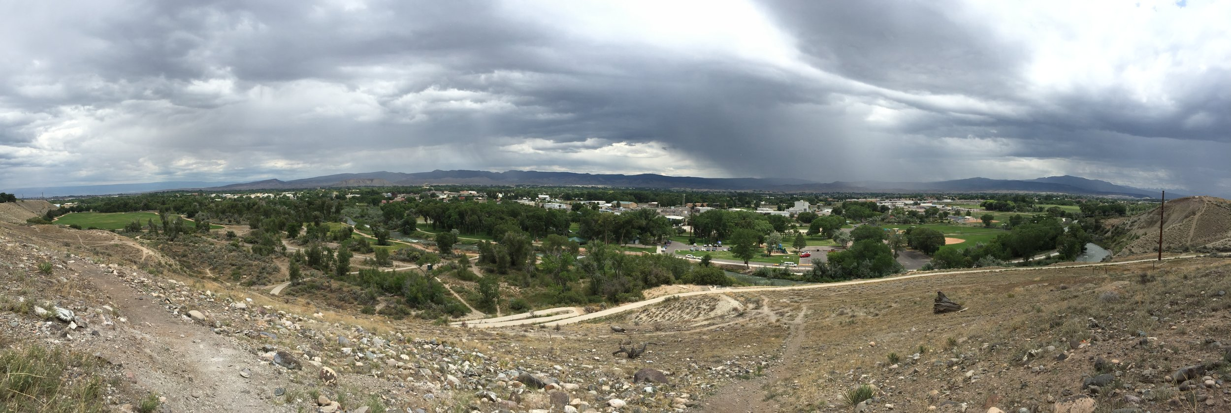From the top of the hill overlooking Montrose.