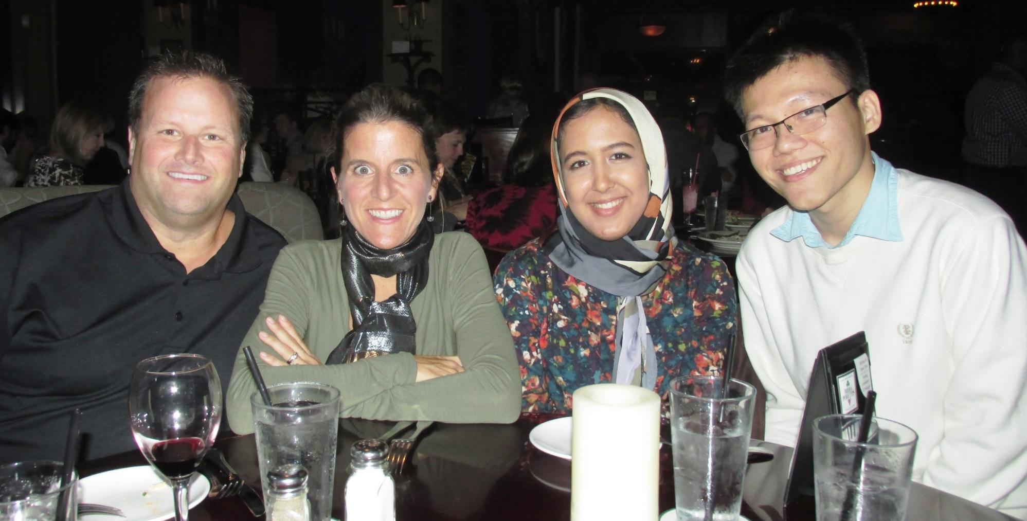 Dinner with U of H Endowment FY2015 Scholarship Winners - Nov 20 2014