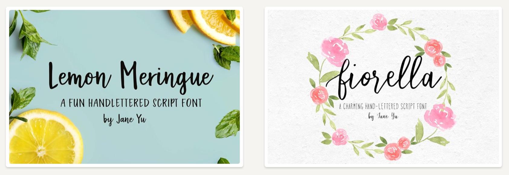 Lemon_Meringue_and_Fiorella_Fonts