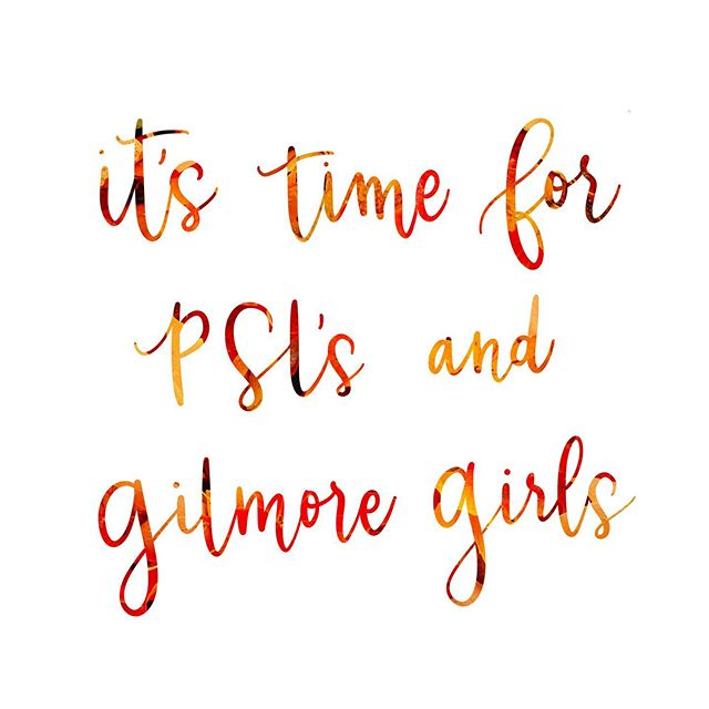We are still in the thick of summer here in SoCal, but seeing Pumpkin Spice Lattes and all the fall things makes me dream of cooler weather.  Also I started watching Gilmore Girls again cuz Stars Hollow is my dream fall vacay spot. 😍  #pslseason #fall2019 #gilmoregirlslettering #gilmoregirls #i❤️coffee #moderncalligraphy #calligraphylove #applepencillettering #procreatelettering #procreatecalligraphy